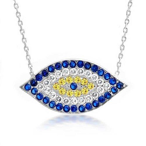 bling-jewelry-collier-en-argent-oxyde-de-zirconium-contre-mauvaise-oeil-16-cm