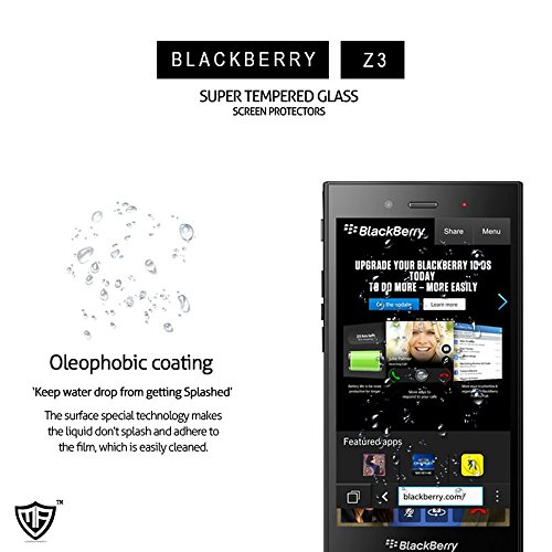 MoArmouz® - Super Tempered Glass Screen Protector for Blackberry Z3 Screen Guard 9H Hardness Toughened Crystal Clear Tempered Glass Screen Guard / Screen Protector / Screen Glass / HD /9H Hardness / Mobile Accessories / Screen Protectors