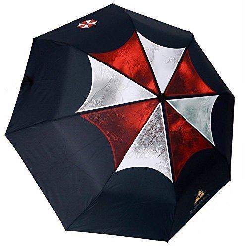 MyLifeUNIT Resident Evil Umbrella Corporation Paragua Automático Plegable Compacta