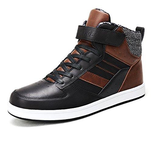 VITIKE Unisex-Erwachsene Jungen Herren Sneakers Leather Turnschuhe (Jungen High-top)