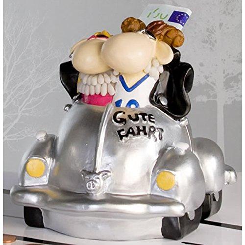 Hochzeitsspardose Geldgeschenk Hochzeit Silberhochzeit Heirat Brautpaar im Auto