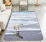 3D Weißer Eisbär 29 Rutschfest Teppich Matte Raum Matte Qualität Elegant Teppich DE (B40cmxH60cm【15.7