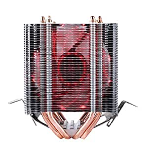 upHere double tower - Dissipatore di processore con ventola da 92mm PWM -cpu cooler.rosso