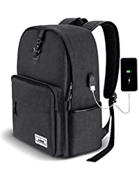 AUGUR Laptop Rucksack mit USB-Ladeanschluss und Anti-Diebstahl Lock für Herren Arbeit,Wasserdicht,Kapazität 35L