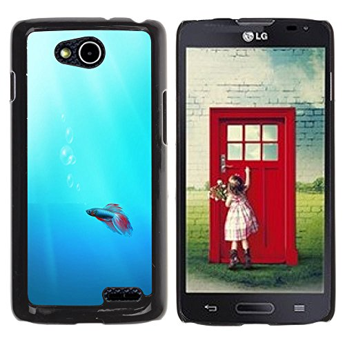 DREAMCASE Hart Handy SchutzHülle Hülle Schale Case Cover Etui für LG OPTIMUS L90 D415 - Cute Neon Coral Fish