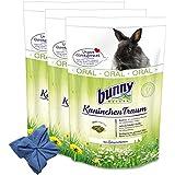3 x 4 kg Bunny Kaninchen Traum Oral Nagerfutter Hasen Kamille + Microfasertuch