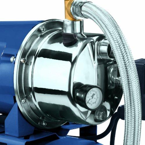 Einhell Hauswasserwerk BG-WW 1038 N (1000 W, 3800 l/h Fördermenge, 20 l Behälter, Edelstahlpumpengehäuse, Manometer) - 3