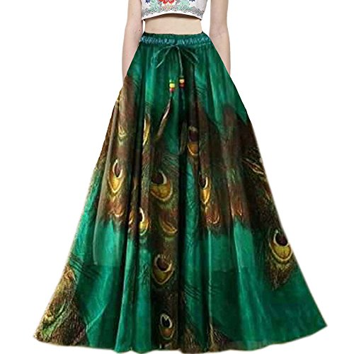 Shoponbit Presents Royal Crepe Printed Skirt for Women's