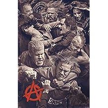 """Póster """"Sons Of Anarchy/Hijos de la Anarquía"""" Fighting/Peleando (61cm x 91,5cm)"""