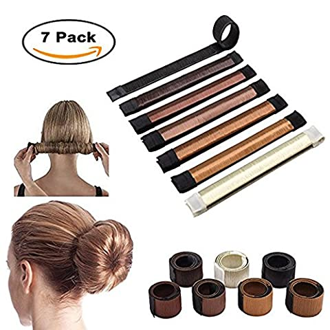 7pcs Hair Bun Maker, TMEOG Perruque de cheveux Bun Disk Maker Donut Hair Piece Bob Maker Outil
