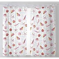 Martina Home Caracolas Cortinas Visillo para Cocina, Tela, Fucsia, 100 x 140 cm (Pack 2 Unidades), 2