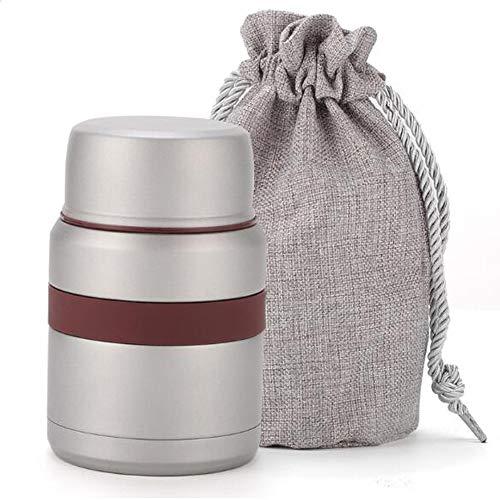 ZY 350 ml Edelstahl vakuumkocher Isolierung Topf Isolierung Lunchbox Isolierung Barrel isolationsschale kann brei Kochen Kochen Reis,BusinessGrey