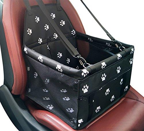 YOUJIA Wasserdicht Atmungsaktiv Auto-Hundesitz für Kleine Hunde Katze Autositz Sicherer Träger Tragetasche Haustier auf Rückbank und Vorderbank (Fußabdruck, 40 * 30 * 25cm)