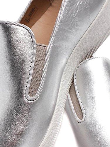 FitFlop Damen Superskate Pumps, Schwarz, One Size Silber