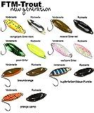 FTM Spoon Hit Blinker 3,3g - Forellenblinker zum Spinnfischen, Blinker für Barsch & Forelle, Forellenköder zum Spinnangeln