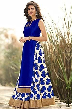 Spangel Fashion Girls' Bhagal Puri+Benglory Anarkali Lehenga Choli (Spangel Fashion_Lehenga232_Multi-Coloured_Free Size)