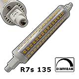 R7s LED Strahler 135mm 12 Watt dimmbar (slim / schmal) rund warmweiß Leuchtmittel Lampe Halogen j135 Fluter Standleuchte Deckenstrahler Brenner Scheinwerfer