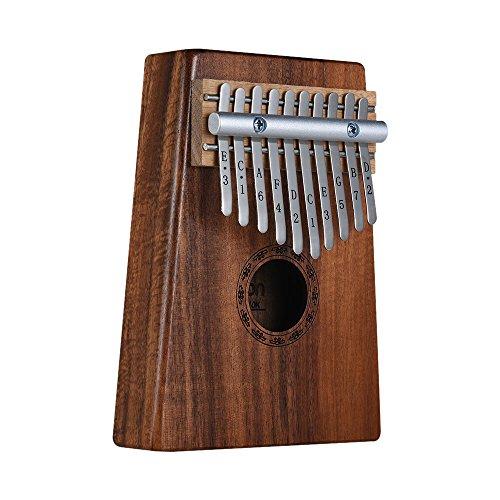 ammoon Kalimba 10-Key Pulgar Piano Mbira Sanza Hawaiana Madera Sólida Koa con Bolsa de Transporte Libro de Música Sintonización Martillo Regalo Musical AKP-10K