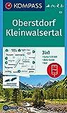 Oberstdorf, Kleinwalsertal: 3in1 Wanderkarte 1:25000 mit Aktiv Guide inklusive Karte zur offline Verwendung in der KOMPASS-App. Fahrradfahren. Skitouren. Langlaufen. (KOMPASS-Wanderkarten, Band 3)