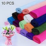 Xiaochou@sl Blumen-Verpackungspapier DIY-Büttenpapier, gelegentliche Farblieferung 10 PCS Dekoration