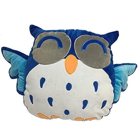 FPBS Lovely Blue Owl Pillow Owl Plush Soft Toys, Best Gift for Your Kids