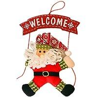 Xmas Natale Welcome Segno Bordo con la Bambola Muro Pendere Porta Ornamento Decorazione Decorazioni