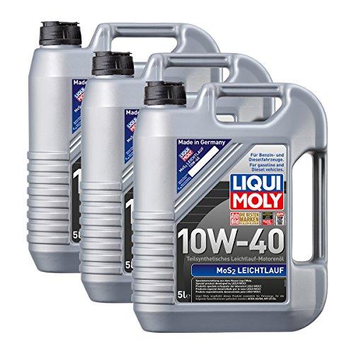 Preisvergleich Produktbild 3x LIQUI MOLY 1092 MoS2 Leichtlauf 10W-40 Motoröl 5L
