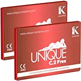 2 x KAMYRA Unique C.2 Free Condom Card, rot - DOPPELPACK!