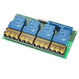 KKmoon 4 Canali Modulo di Isolamento CC 12V 30A Relay Control Board Accoppiatore Ottico High / Low Trigger