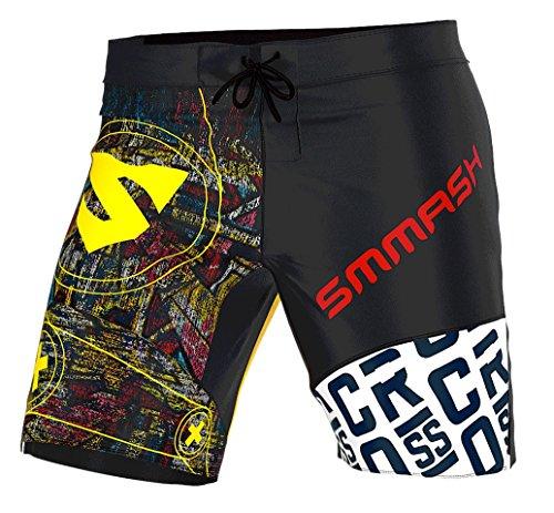 Smmash Herren Compression CrossFit Shorts GRAFFITI - Größe S M L XL XXL (L)