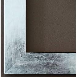 Bilderrahmen Lecce Silber 3,9 - Über 14000 Größen - 60 x 137 cm - mit Normalglas - Maßanfertigung ohne Aufpreis
