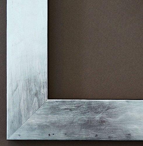 Spiegel Wandspiegel Badspiegel Flurspiegel Garderobenspiegel - Über 200 Größen - Lecce Silber 3,9 - Außenmaß des Spiegels 40 x 60 - Wunschmaße auf Anfrage - Antik, Barock