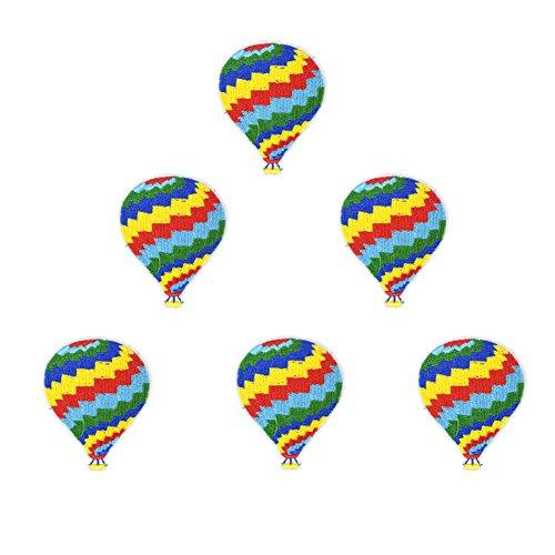 XUNHUI Heißluftballon Tuch Aufkleber Kleidung Accessoires Schuhe und Hüte Applikation zum Aufnähen 6 Stück