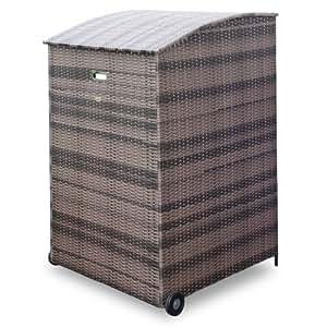 habau m lltonnenverkleidung m lltonnenbox aus polyethylen 240 l braun 73 x 78 x 126 cm. Black Bedroom Furniture Sets. Home Design Ideas