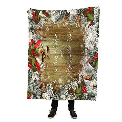 Custom Merry Christmas Couverture Polaire Doux DIY Votre Photo Décoration Chambre à Coucher Moderne 150x200cm Christmas Blanket