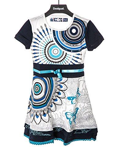DESIGUAL - Vestito da bambina maniche corte albany 3/4 bianco