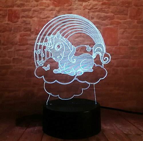 ht Energiesparende Licht Touch 7 Farbe Kinder Schlafzimmer Dekoration Optische Täuschung Lampe Geschenk Für Kinder/Geburtstag/Weihnachten ()