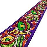 multicolor cinta bordada de artesanía decorativa 7,6 cm de ancho por el patio