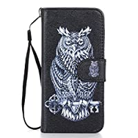 JGNTJLS iPhone 5C Leather Case[Free Tempered Glass Screen Protector] With Hand Wrist Strap,Colorful Pattern Design,Flip PU Leather Wallet Card Slot Stand Case Cover For Apple iPhone 5C 4.0