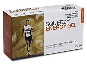 Squeezy - Energy Gel Box Pfirsich-Orange 10x25g