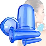 CUTADORNS 4pcs Silikon Schröpfen Cups Set Massage anti-cellulite-cups für Gesicht Schönheitstherapie-Massage, Schröpfgläser, Vacuum Silikon Schröpfen Cups