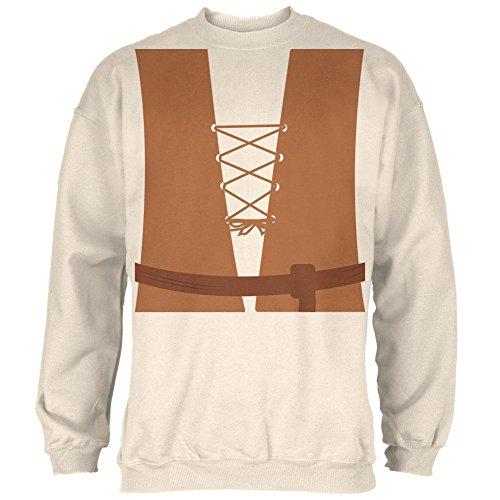 Mittelalterliche Bauer Halloween Kostüm Herren Sweatshirt natürliche (Halloween Bauer Kostüme)