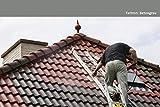 12KG Dachfarbe in Betongrau für Ziegel, Dachpfanne, Eternit TÜV-GEPRÜFT Dachsanierung Dachbeschichtung Dachziegel Farbe Grau