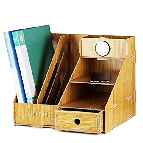 Gossipboy amovible en bois Grain Motif bureau A4fichier de bureau