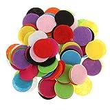 MagiDeal 100 Pezzi di Colore Arcobaleno Rotondo Tavolo Feltro Coriandoli Spargimento di Nozze Fai da Te 2,5 Centimetri - 3 Centimetri