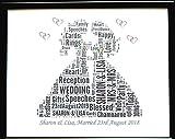Neue personalisierte Gay Lesbian/Woman's Hochzeit oder Hochzeit, Wort Kunst (A) in einem Glas Frontrahmen, schönes Geschenk und Andenken, weniger Porto