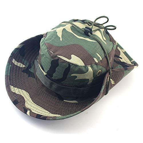 Runder Hut des zufälligen Dschungels des Fischerhutes im Freien, der Fischen-Tarnungsmütze wandert.3 56-62 cm