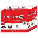 #6: Cello Tip Top Dark Ball Pen - Pack of 100 (Blue)