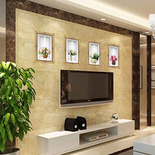 Gefälschte Bilderrahmen Stereo Blumen In Der Vase 3D Wandaufkleber Wohnzimmer Schlafzimmer Frische Pflanze Wandtattoos Wand Grenze Decor 116 Cm * 44 Cm