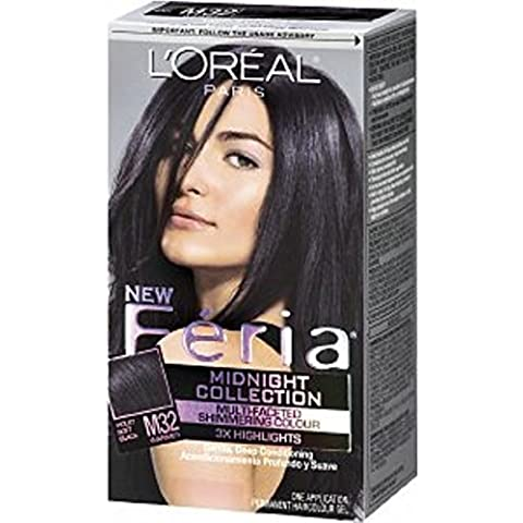 L'Oreal Paris Feria Midnight Collection, Violet Soft Black [M32] 1ea by L'Oreal (Loreal Feria Midnight Collection)
